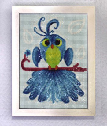 """Мозаичная картина Ag 150 """"Птица удачи"""" в раме"""