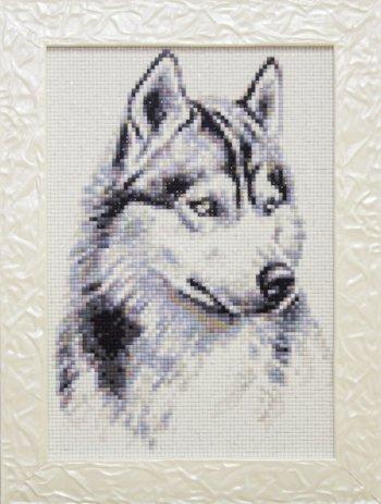 """Мозаичная картина Ag 179 """"Потомок волков"""" в раме"""
