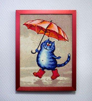 """Мозаичная картина Ag 203 """"Весенний дождь"""" в раме"""