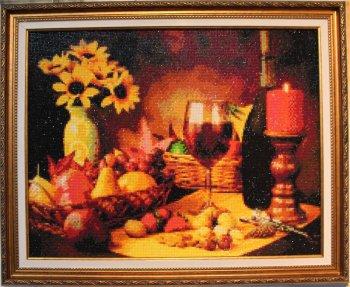 """Мозаичная картина Ag 218 """"Натюрморт"""" в раме"""