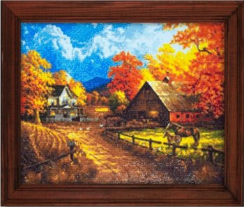 "Мозаичная картина Ag 2306 ""Дорога в осень"" в раме"