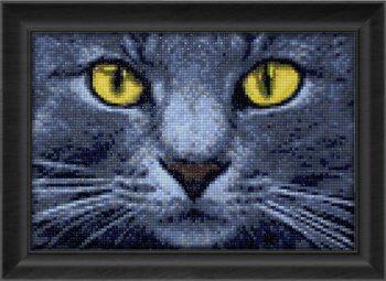 """Мозаичная картина Ag 2308 """"Жёлтые глаза"""" в раме"""