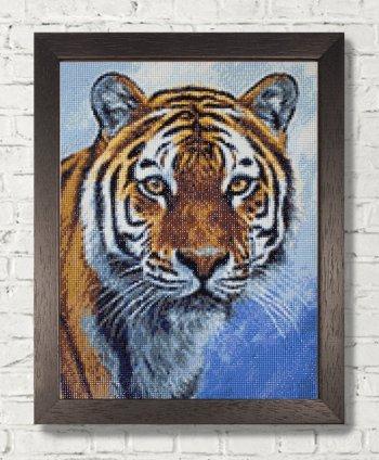"""Мозаичная картина Ag 2311 """"Спокойствие тигра"""" в раме"""