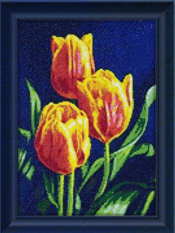 """Мозаичная картина Ag 2312 """"Тюльпанов цвет"""" в раме"""