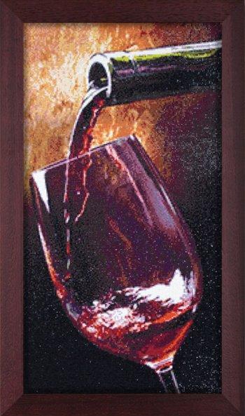 """Мозаичная картина Ag 2316 """"Благородное вино"""" в раме"""