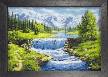 "Мозаичная картина Ag 2317 ""Весенние воды"" в раме"
