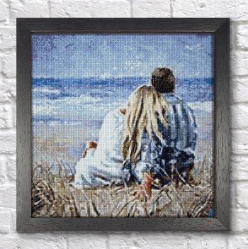 """Мозаичная картина Ag 2324 """"На берегу моря"""" в раме"""