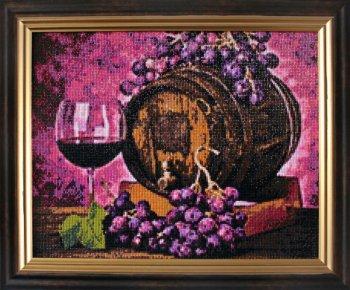 "Мозаичная картина Ag 232 ""Винная бочка"" в раме"