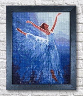 """Мозаичная картина Ag 2334 """"Балерина в голубом"""" в раме"""