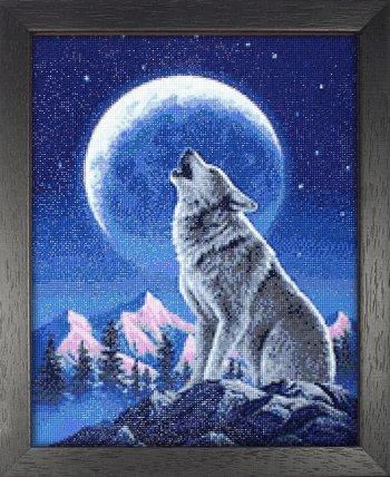 """Мозаичная картина Ag 2336 """"Лунный страж"""" в раме"""