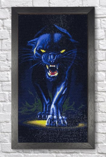 "Мозаичная картина Ag 2409 ""Черная пантера"" в раме"