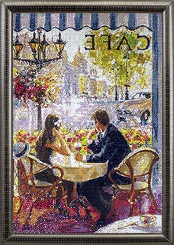 """Мозаичная картина Ag 2434 """"Кафе"""" в раме"""