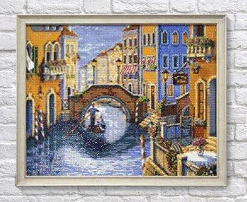 """Мозаичная картина Ag 2466 """"Романтика в Венеции"""" в раме"""