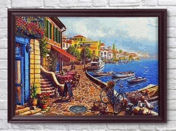 """Мозаичная картина Ag 2490 """"Морской курорт"""" в раме"""