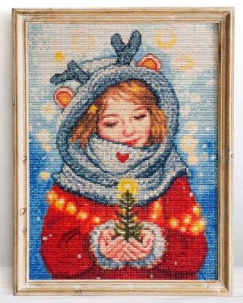 """Мозаичная картина Ag 2560 """"Зимнее чудо"""" в раме"""