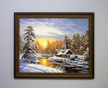 "Мозаичная картина Ag 330 ""Морозное утро"" в раме"