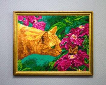 """Мозаичная картина Ag 334 """"Аромат цветов"""" в раме"""