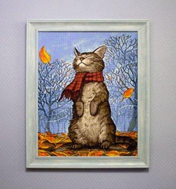 """Мозаичная картина Ag 335 """"Запах осени"""" в раме"""
