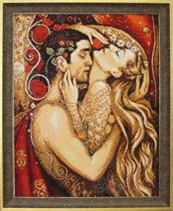 """Мозаичная картина Ag 3418 """"Объятия"""" в раме"""