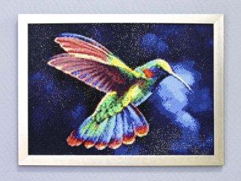 """Мозаичная картина Ag 3435 """"Тропическая птичка"""" в раме"""