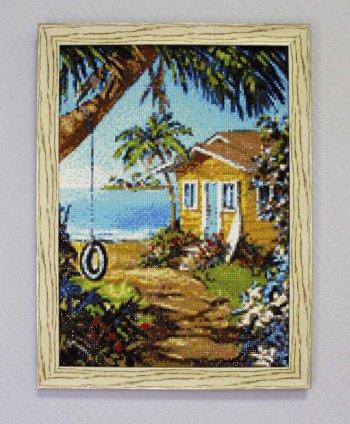 "Мозаичная картина Ag 3441 ""Летний домик"" в раме"