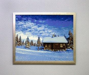 """Мозаичная картина Ag 356 """"Долина снега"""" в раме"""