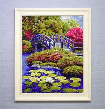 "Мозаичная картина Ag 368 ""Японский садик"" в раме"