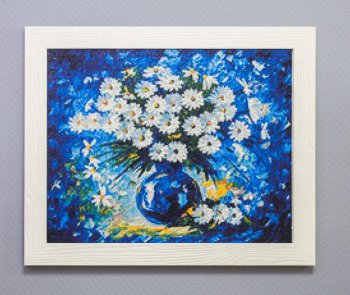 "Мозаичная картина Ag 374 ""Букет маргариток"" в раме"