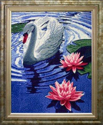 """Мозаичная картина Ag 393 """"Принцесса-лебедь"""" в раме"""