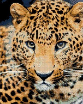 """Мозаичная картина Ag 462 """"Леопард"""" в собранном виде"""