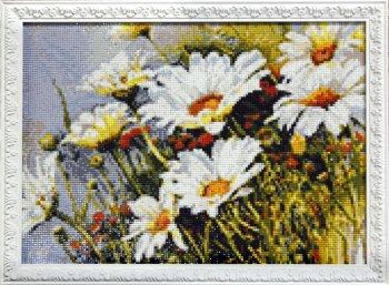"""Мозаичная картина Ag 4644 """"Полевые ромашки"""" в раме"""