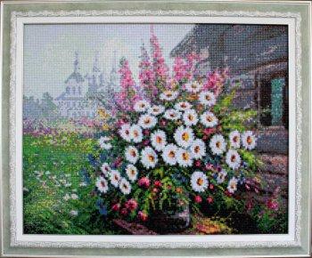 """Мозаичная картина Ag 4645 """"Букет полевых цветов"""" в раме"""