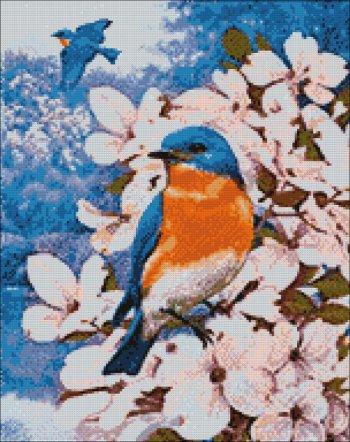 """Мозаичная картина Ag 4660 """"Птицы лета"""" в собранном виде"""