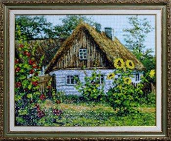 """Мозаичная картина Ag 4663 """"Лето в деревне"""" в раме"""