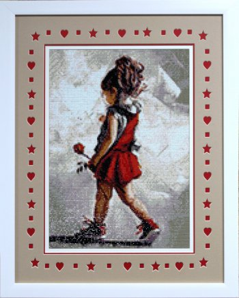 """Мозаичная картина Ag 4680 """"Юная леди"""" в раме"""