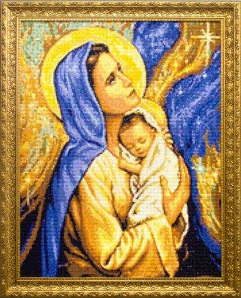 """Мозаичная картина Ag 4683 """"Мадонна с младенцем"""" в раме"""