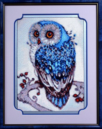 """Мозаичная картина Ag 491 """"Сова"""" в раме"""