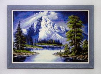 """Мозаичная картина Ag 565 """"Горное озеро"""" в раме"""
