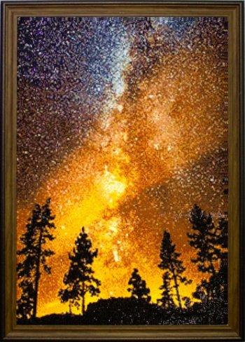 """Мозаичная картина Ag 566 """"Звездное небо"""" в раме"""