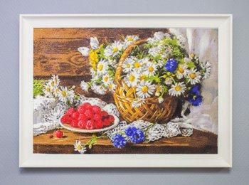 """Мозаичная картина Ag 576 """"Сладкая малина"""" в раме"""