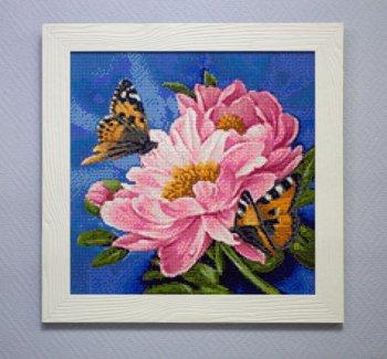 """Мозаичная картина Ag 583 """"Цветочный сок"""" в раме"""