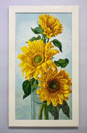 """Мозаичная картина Ag 594 """"Цвет лета"""" в раме"""