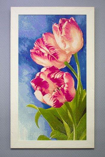 "Мозаичная картина Ag 597 ""Весенние цветы"" в раме"