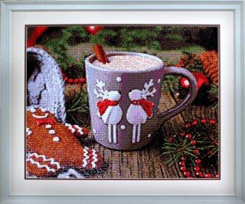 """Мозаичная картина Ag 6015 """"Какао с корицей"""" в раме"""