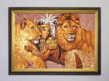 "Мозаичная картина Ag 6038 ""Богиня Африки"" в раме"