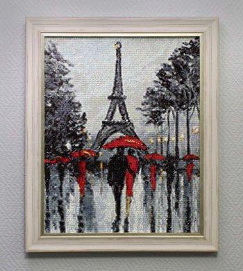 """Мозаичная картина Ag 710 """"Парижские аллеи"""" в раме"""