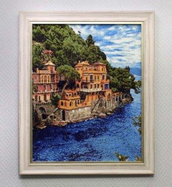 """Мозаичная картина Ag 711 """"Лазурные воды"""" в раме"""