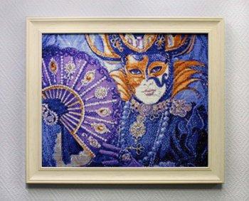 """Мозаичная картина Ag 712 """"Венецианский фестиваль"""" в раме"""