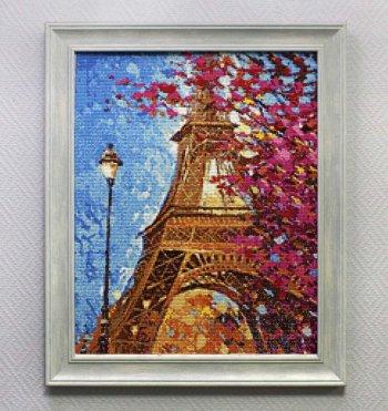 """Мозаичная картина Ag 714 """"Парижские краскиа"""" в раме"""