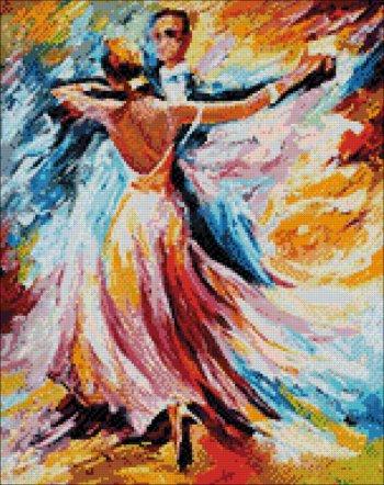 """Мозаичная картина Ag 844 """"Танец красок"""" в собранном виде"""